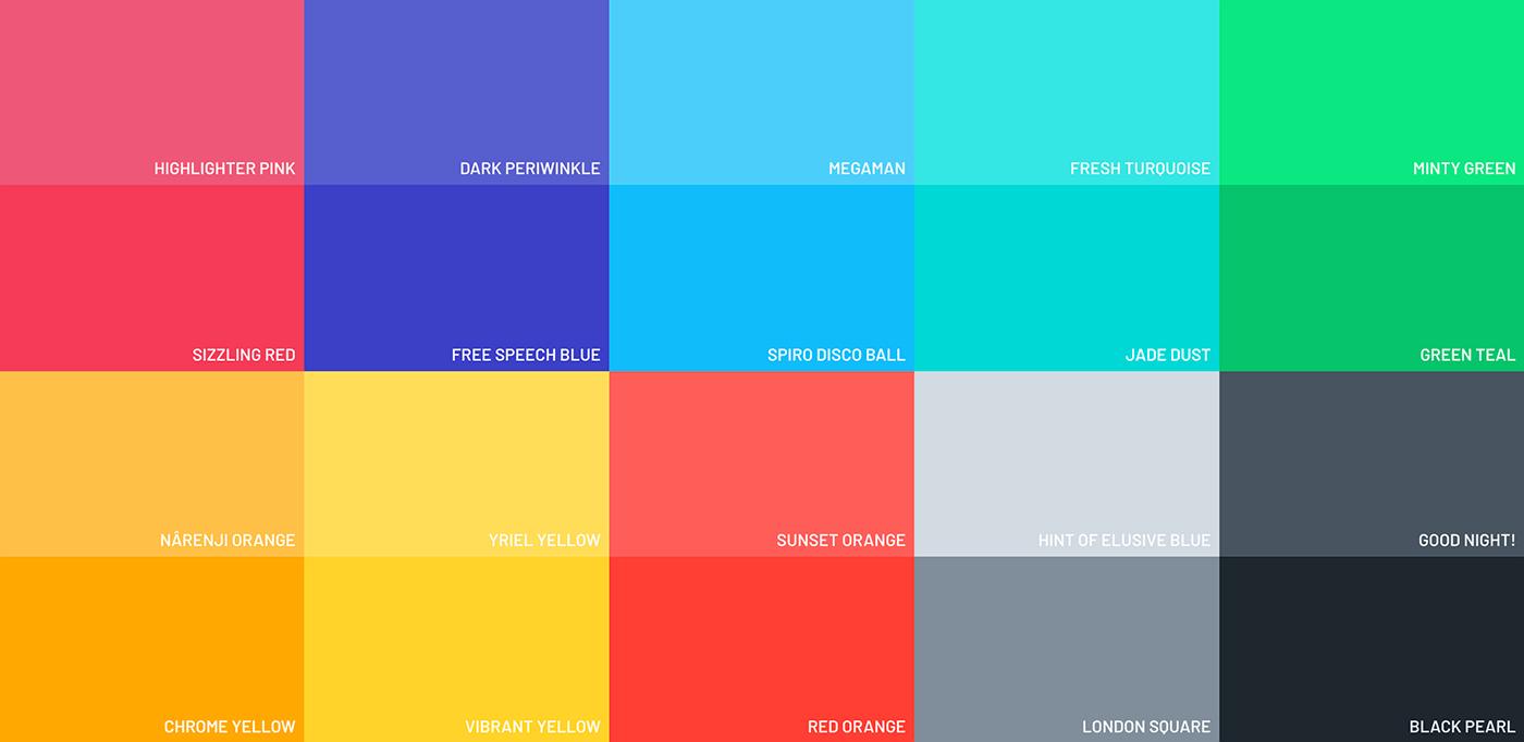 Renk Uyumu Flat UI Colors